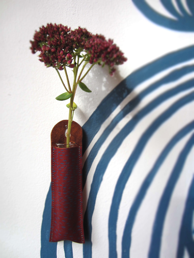 Leather Wall Vase