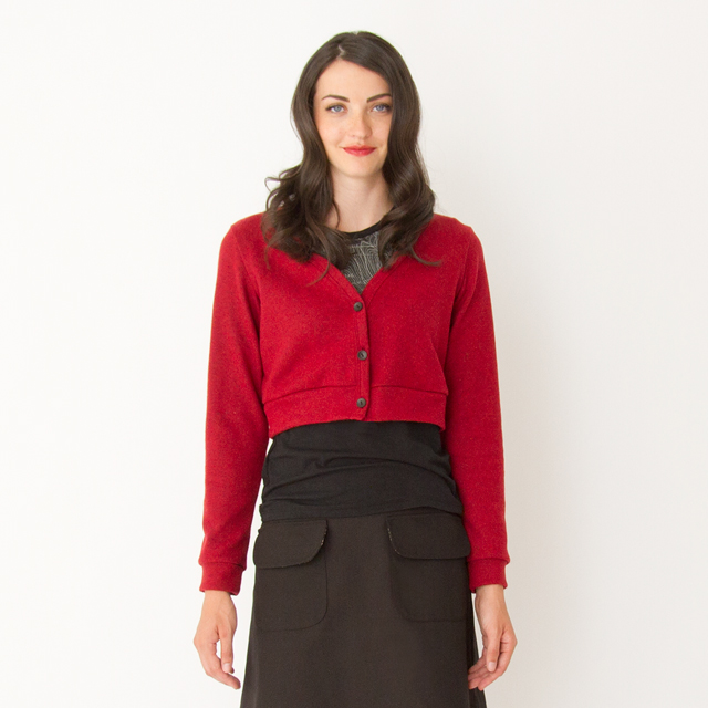 Millie-Cardigan-Red-Front-Close