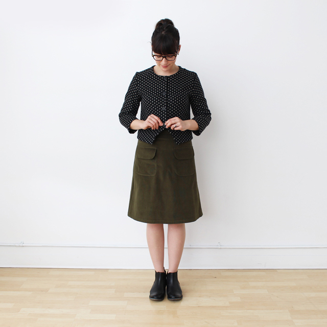 Tattersall olive front