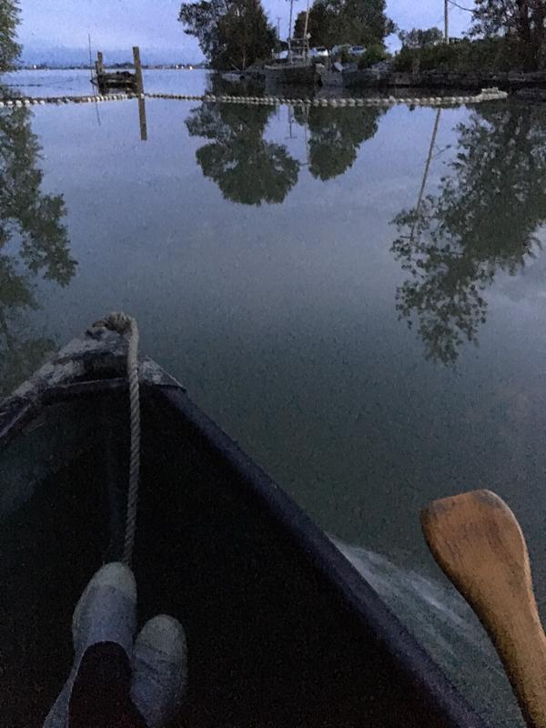 Canoe at Finn Slough