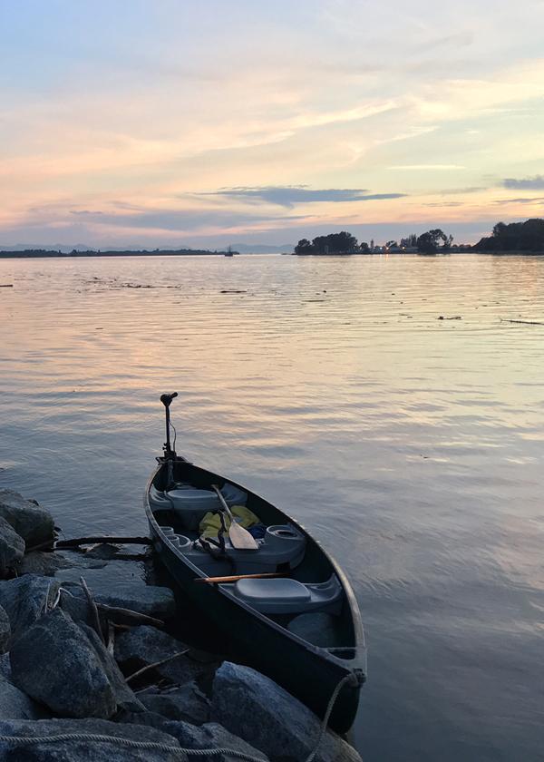 Canoe on the Fraser River